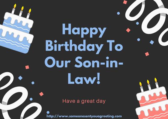 Happy Birthday Son-in-Law