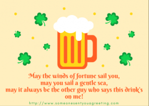 Funny Irish drinking saying