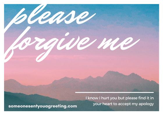 Please Forgive Me Sorry Message