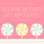 Please Accept My Apology Message