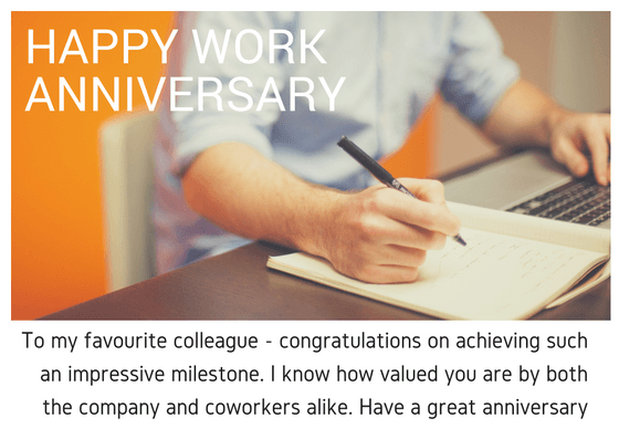 Happy Work Anniversary Quotes and Wishes