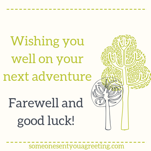 farewell and good luck message
