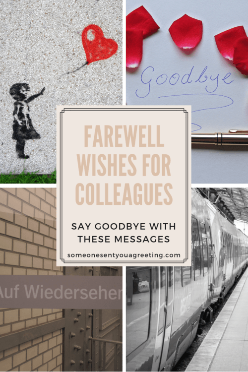 Farewell Wishes For Colleagues Say Goodbye With These