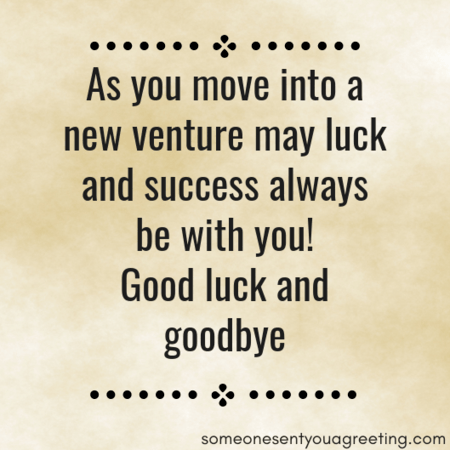 Success farewell wishes