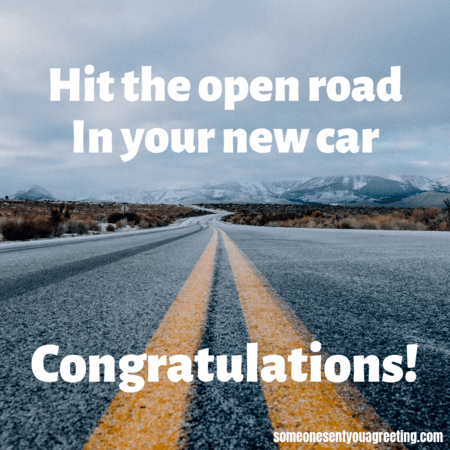 Hit the open road in your new car