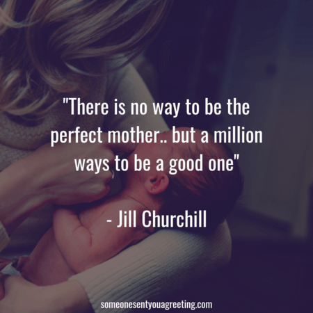 Good mother quote Jill Churchill