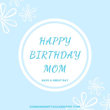 Classy happy birthday mom image