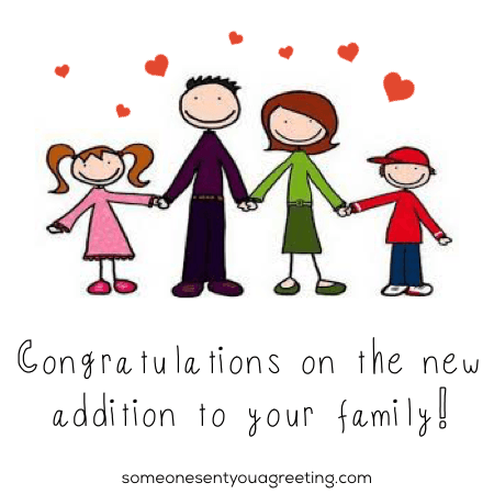 congratulations on the new addition to your family