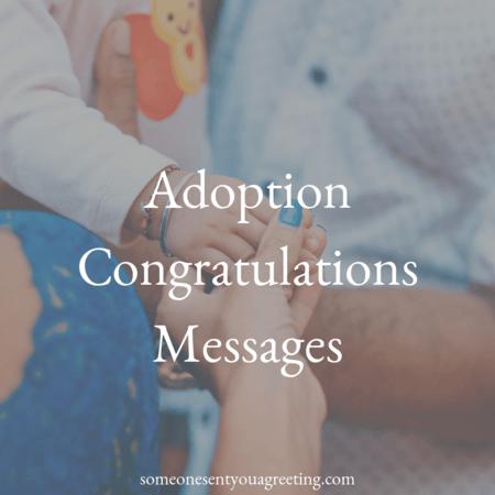 adoption congratulations messages