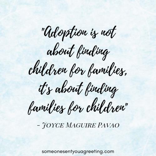 Adoption saying