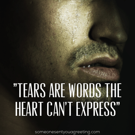 tears are words the heart can't express sad love quote
