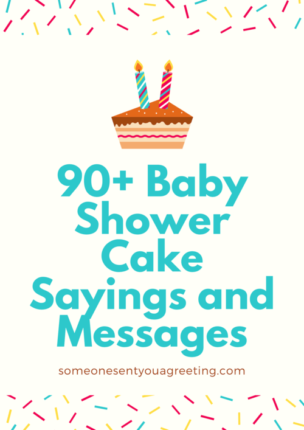 baby shower cake sayings