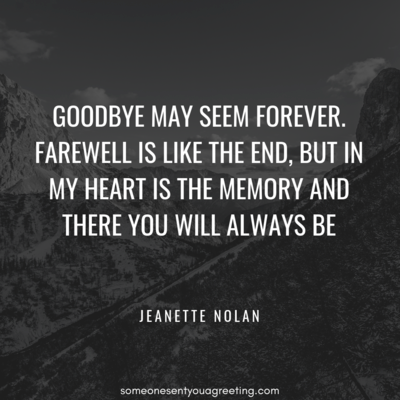 Farewell memory quote