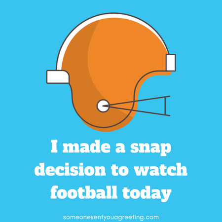 Snap decision football pun