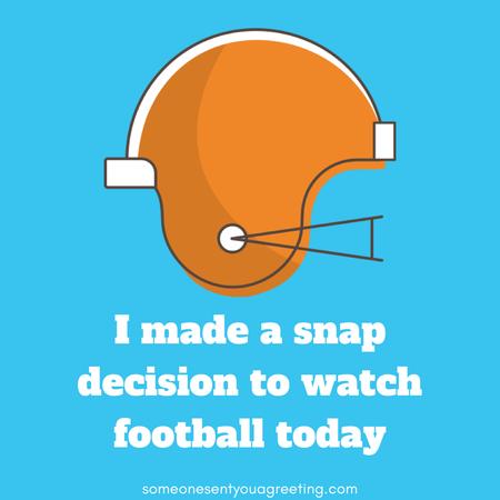 Snap decision football pun