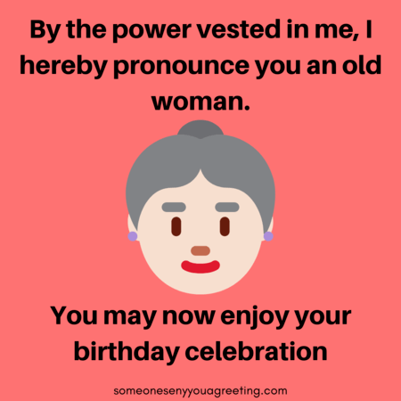 Happy Birthday Old Woman Funny Message