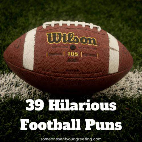 39 Hilarious Football Puns