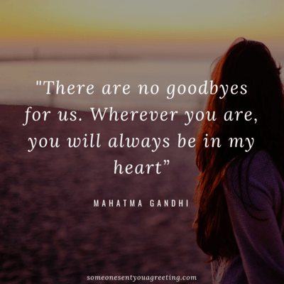No goodbyes for us Quote
