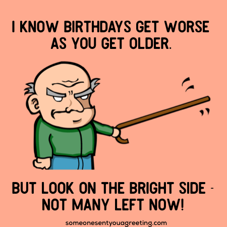 Old Man Birthday Wishes Joke