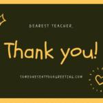 Thank you teacher message