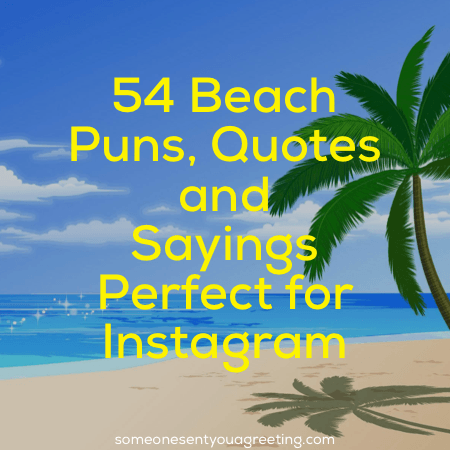 Beach puns, quotes and sayings