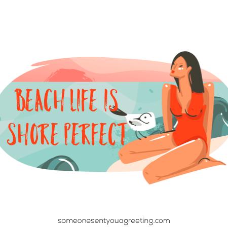 Beach shore pun