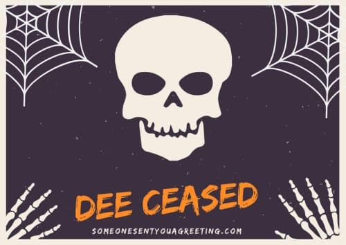 Dee ceased female skeleton name