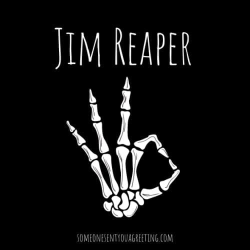 Jim reaper male skeleton name