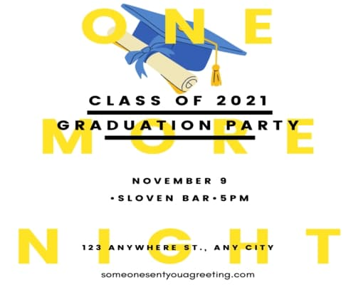 class of 2021 graduation party wording