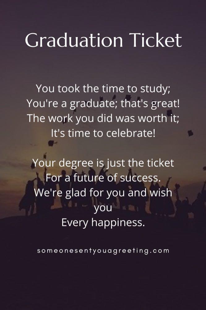 happy graduation poem