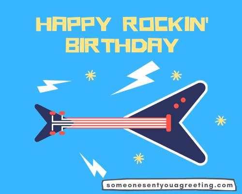 happy rockin birthday message