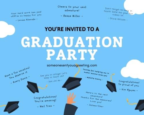 high school graduation party invitation wording