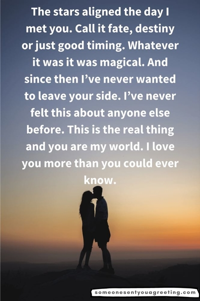 Long paragraph of love for partner