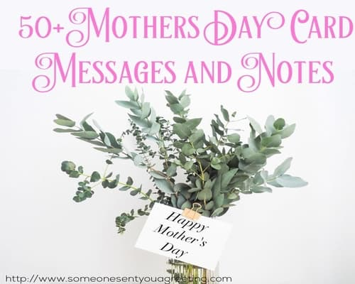 50+ Mother's Day Card Messages and Notes