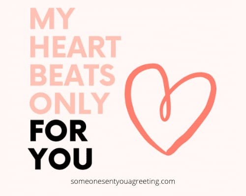 my heart beats for you love text message