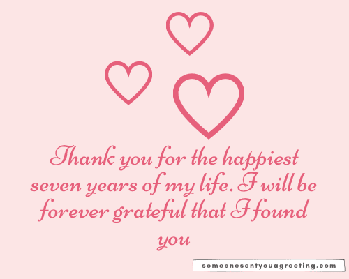 thank you seven year anniversary wishes