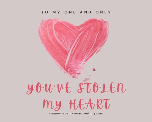 you've stolen my heart love sms message