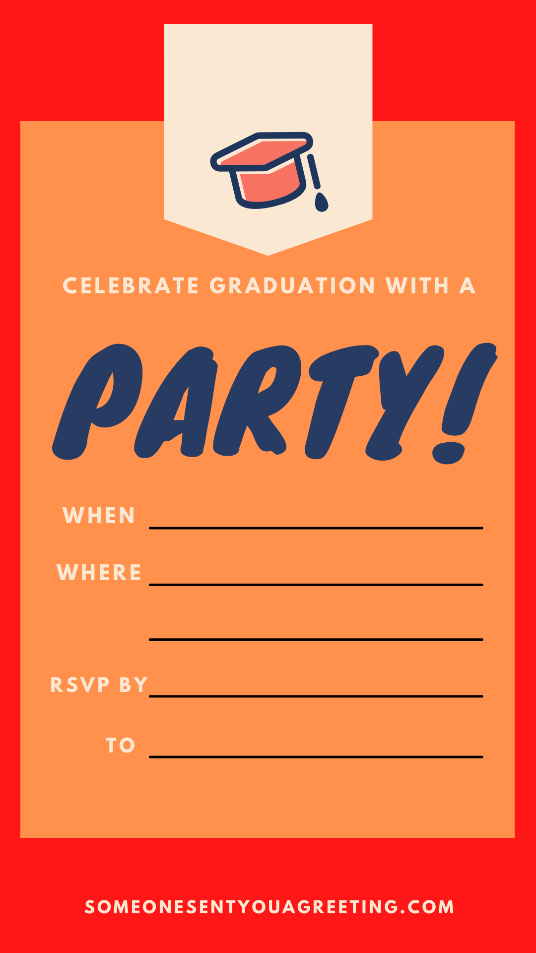 big printable graduation party invitation template