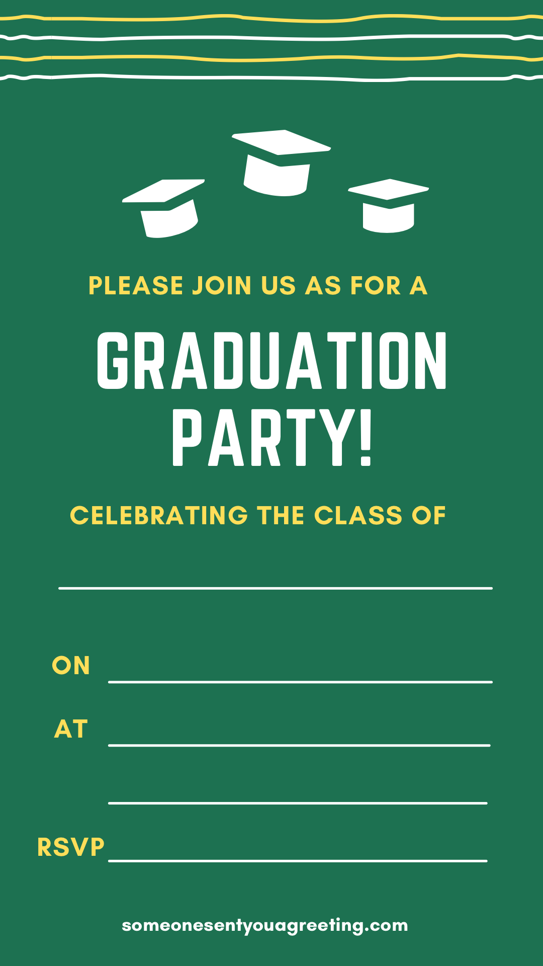 college printable graduation party invitation template