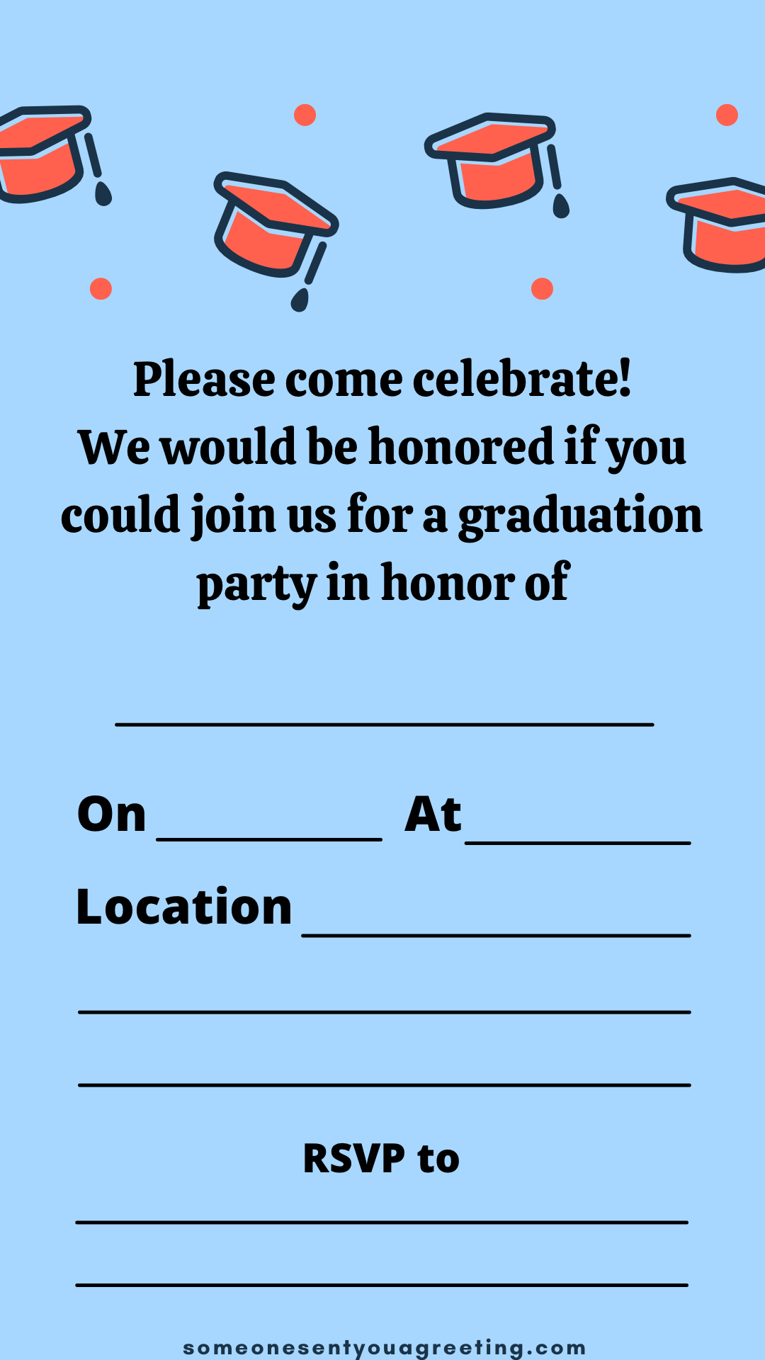 21 Free Printable Graduation Party Invitations - Someone Sent You Intended For Graduation Party Invitation Templates Free Word