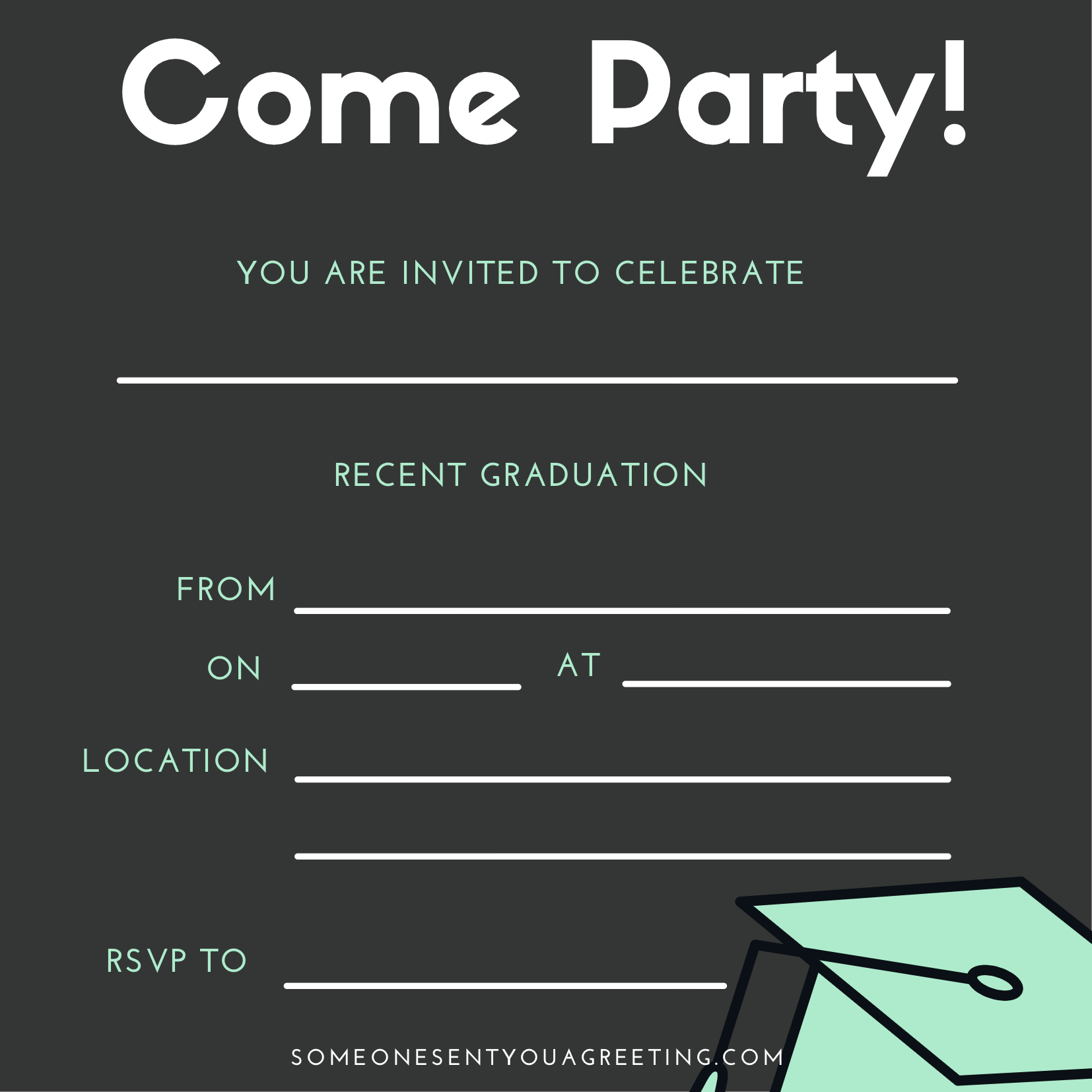21 Free Printable Graduation Party Invitations - Someone Sent You Throughout Graduation Party Invitation Templates Free Word