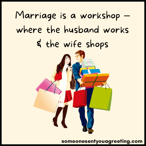 funny couple husband workshop quote