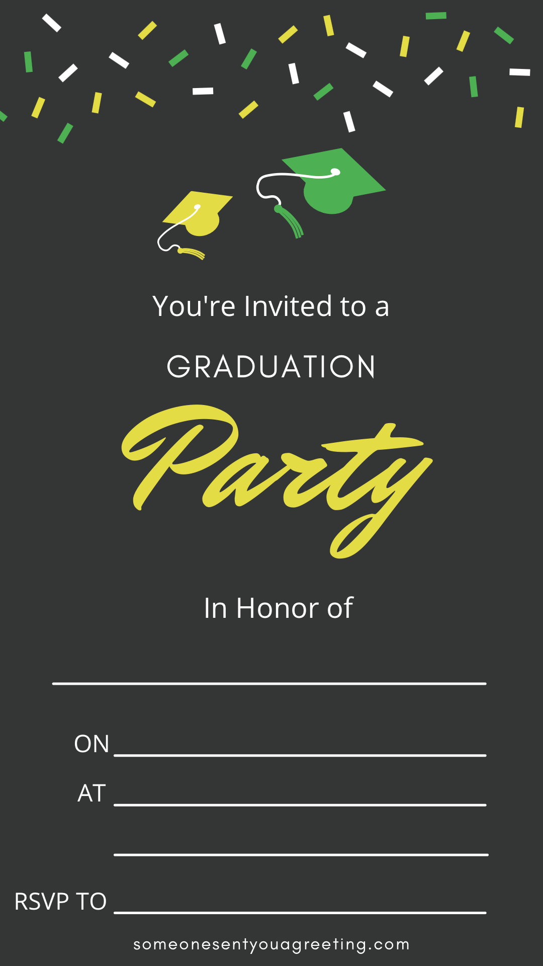 happy printable graduation party invitation template
