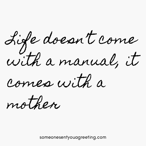 life comes with a mom strong quote