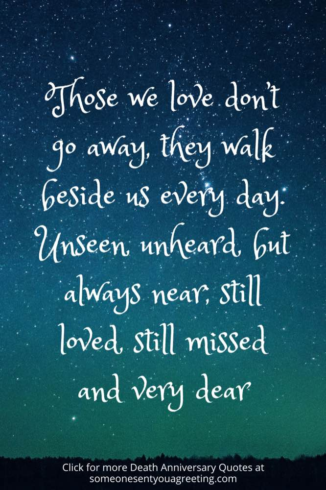 death anniversary quote with stars