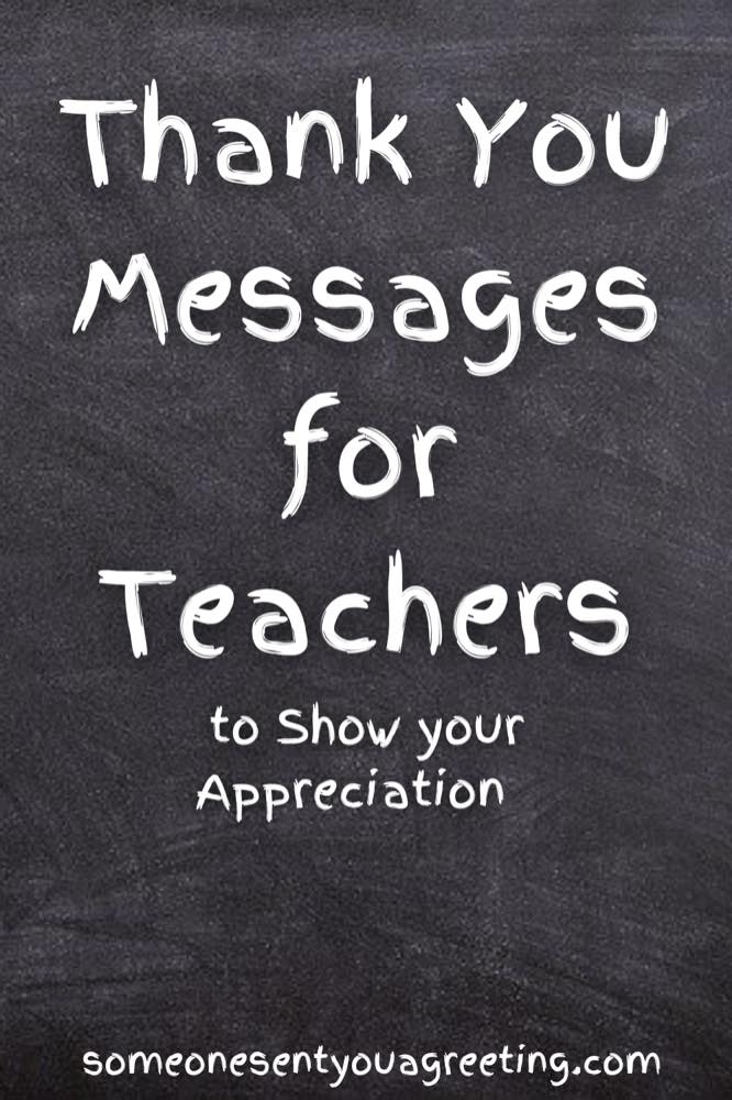 thank you messages for teachers Pinterest small