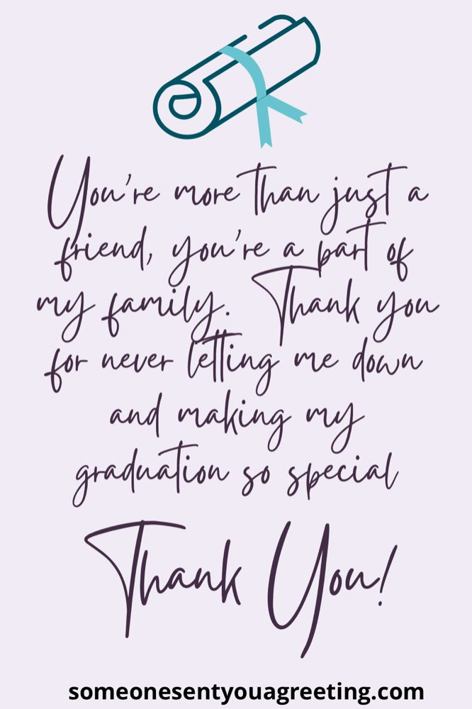 graduation thank you message for family and friends