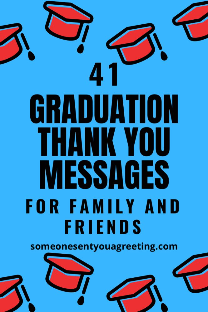 graduation thank you messages for family and friends Pinterest small