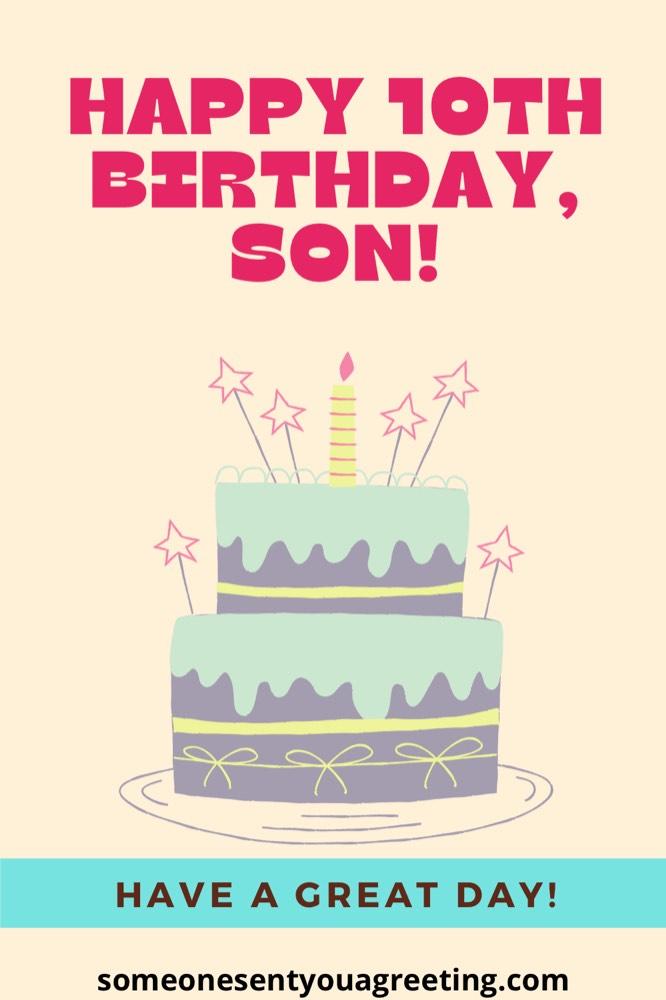 happy 10th birthday son from mom