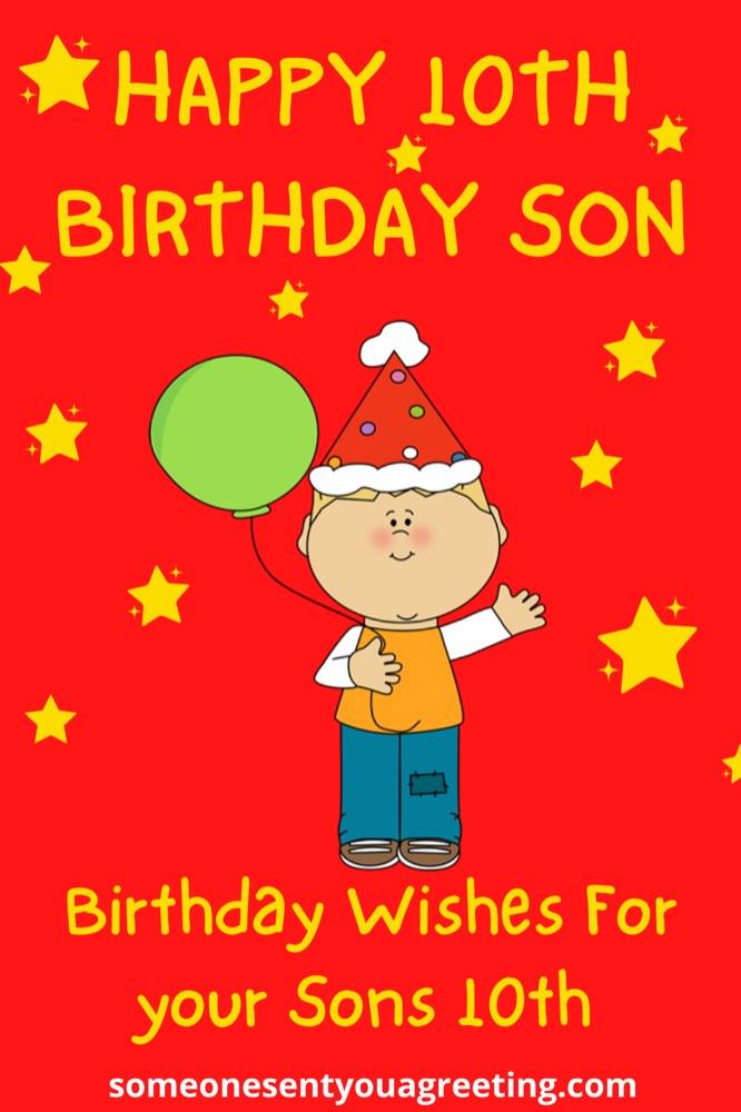 happy 10th birthday son Pinterest small